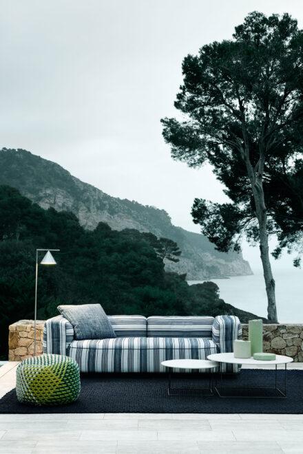 hauser-design-b&b-italia-lounge-hybrid-mit-streifen-in-grau-weiss