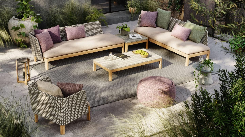 hauser-design-roya-botania-lounge-calypso-mit-violetten-kissen