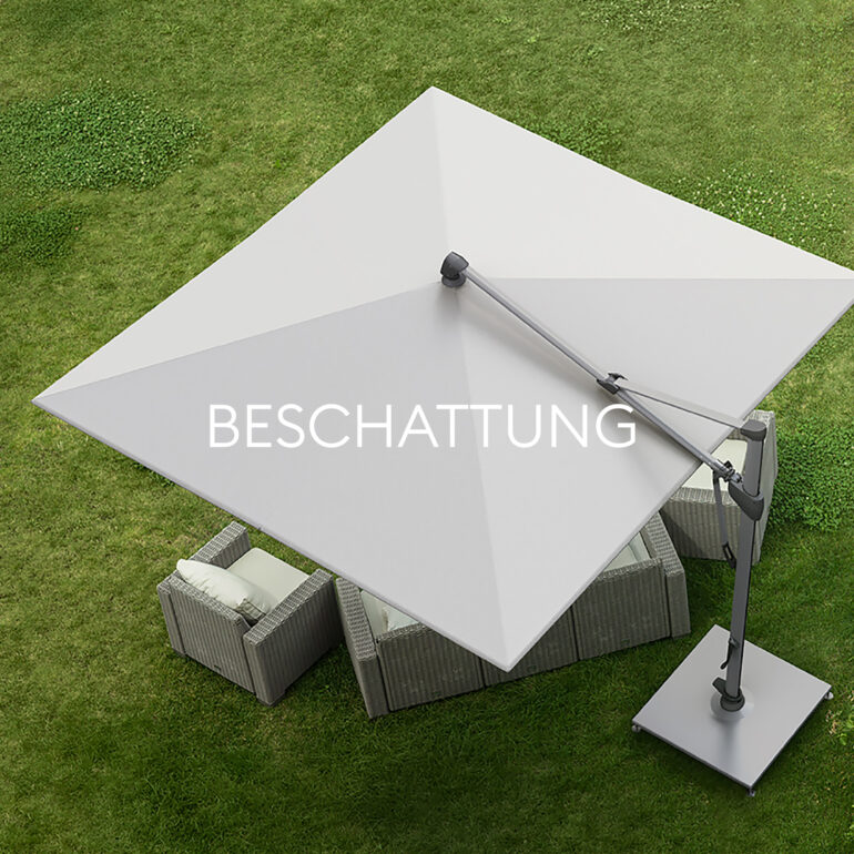 Hauser Design Sortiment Beschattung