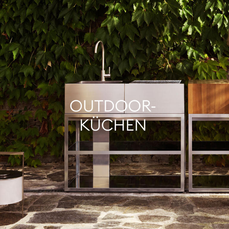 Hauser Design Sortiment Outdoorküchen