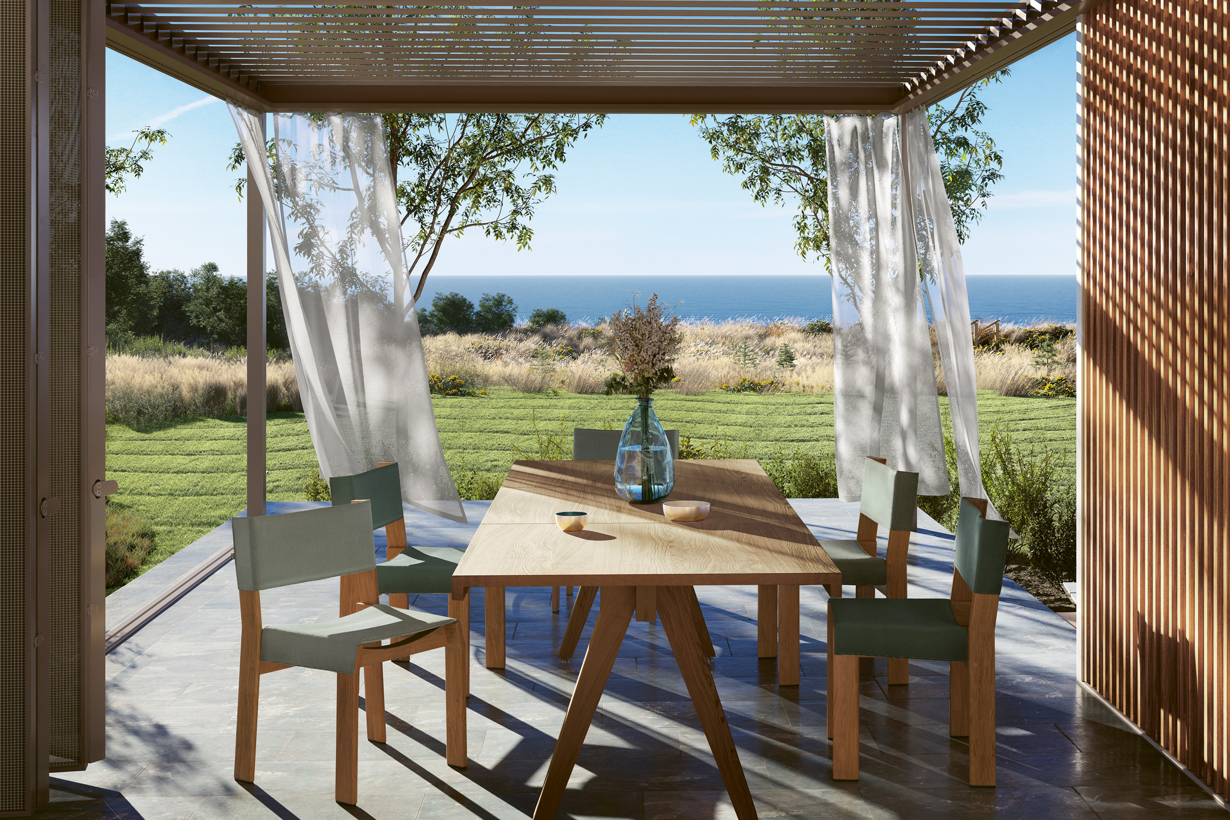 hauser-design-kettal-h-pavillon-mit-band-stühlen